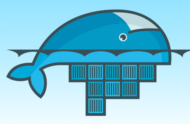 Docker logo upside down